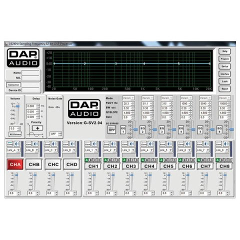 DAP audio pro DAP-Audio DSM-26 MKII 2way in 6way out Digital Crossover D2072
