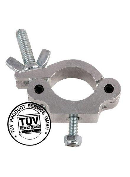 Showtec Showtec 50mm Half Coupler Slimline SWL: 300 kg, TUV certification, Metal 70480