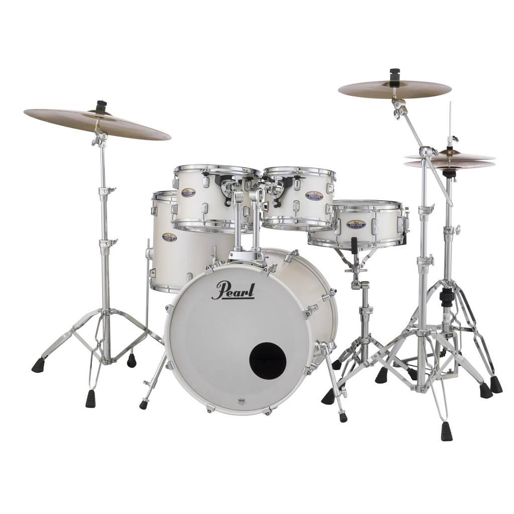 Pearl  DMP925S/C229 DECADE White Satin  drumstel incl. HWP830 hardwarepack