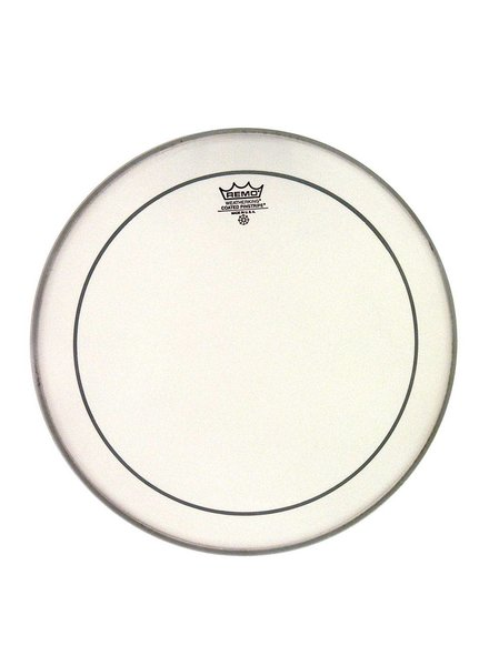 REMO Remo PS-0113-00 Pinstripe 13-Zoll-rauhaarige weiß für Tom und Snare Drum