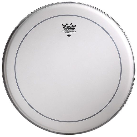 REMO  PS-0113-00 Pinstripe 13 inch coated ruw wit voor tom & snaredrum