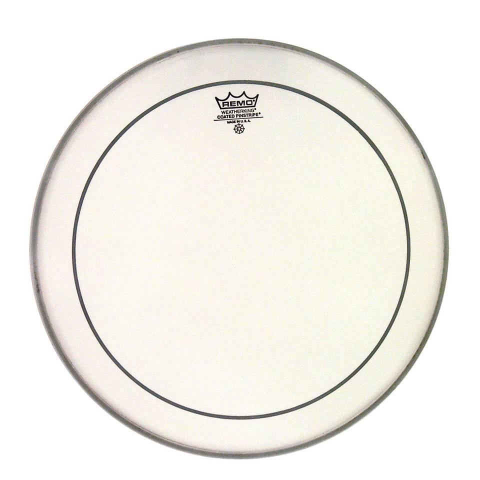 REMO  PS-1118-00 Pinstripe 18 inch coated ruw wit voor bassdrum