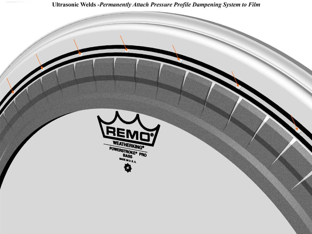 REMO  PR-1322-00 Powerstroke Pro Clear 22 inch bassdrum vel