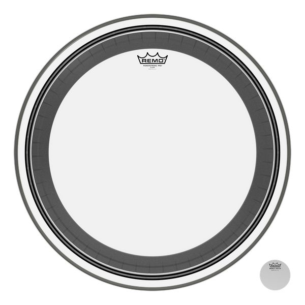 REMO  PR 1324-1300 Power Pro Klare 24-Zoll-Bass-Drum-Haut