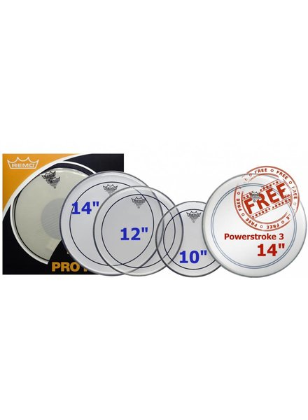 REMO Remo PP-0310-PS ProPack Pinstripe Heads Pack 10-12 - 14-14 BP