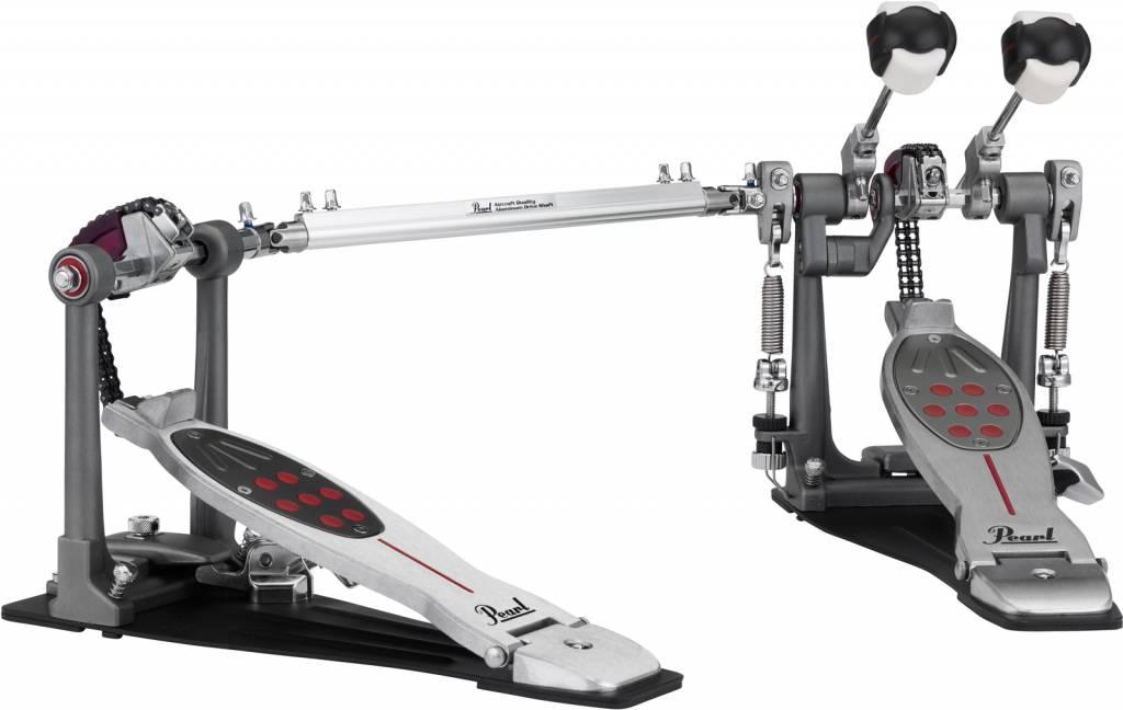 Pearl  P-2052C Eliminator, Twin BD Pedal, Chain Drive Red Line dubbel bassdrum pedal