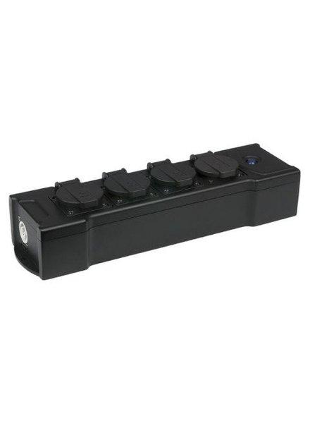 Showtec PowerBOX 4 Daisy-Chain Multisocket Schuko 4-weg verdeelblok stekkerdoos 90661