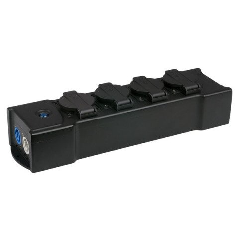 Showtec  PowerBOX 4C 1.5m, 3 x 2,5mm2 Multisocket Schuko 4-weg verdeelblok stekkerdoos 90663