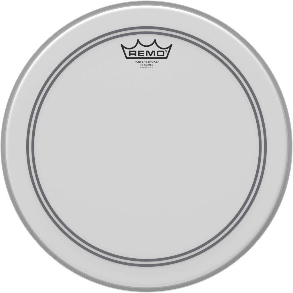 "REMO  P3-0113-BP Powerstroke 3 coated ruw wit 13"" tom vel"