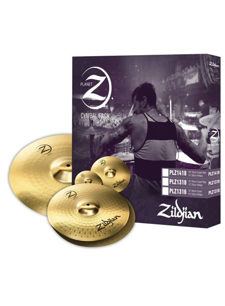Zildjian Cymbal set, Planet Z, pack of 3, 13H/16Cr