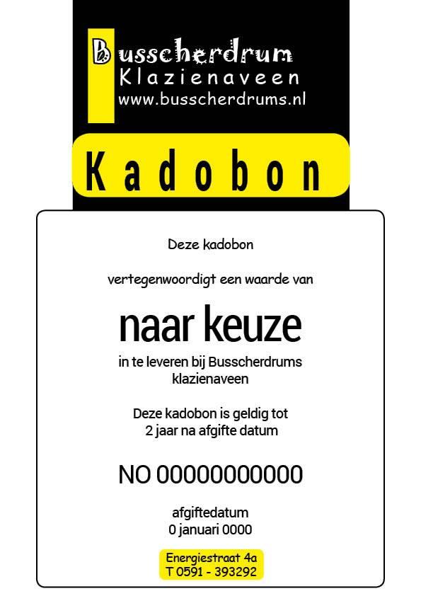 B System Busscher Drums Geschenkgutschein € 25, -