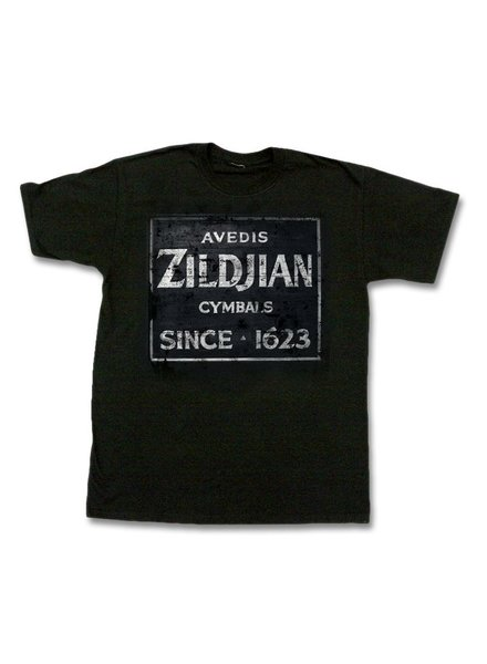 Zildjian T-shirt, Quincy Vintage Sign, M, black