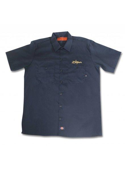 Zildjian ZIT4662 Dickies®-workshirt Zwart met goudkleurig logo, M