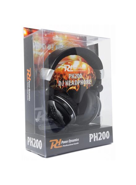 PD Power Dynamics PH200 DJ Headphones Black