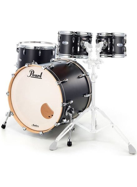 Pearl MCT924XEP_C339 Masters Maple Matte Caviar Black 4-delige shellset