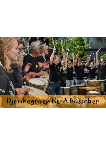 Busscherdrums Djembe9160 Djembegroep HB 10 lesson loose lessons Flexible variable planning youngsters <21