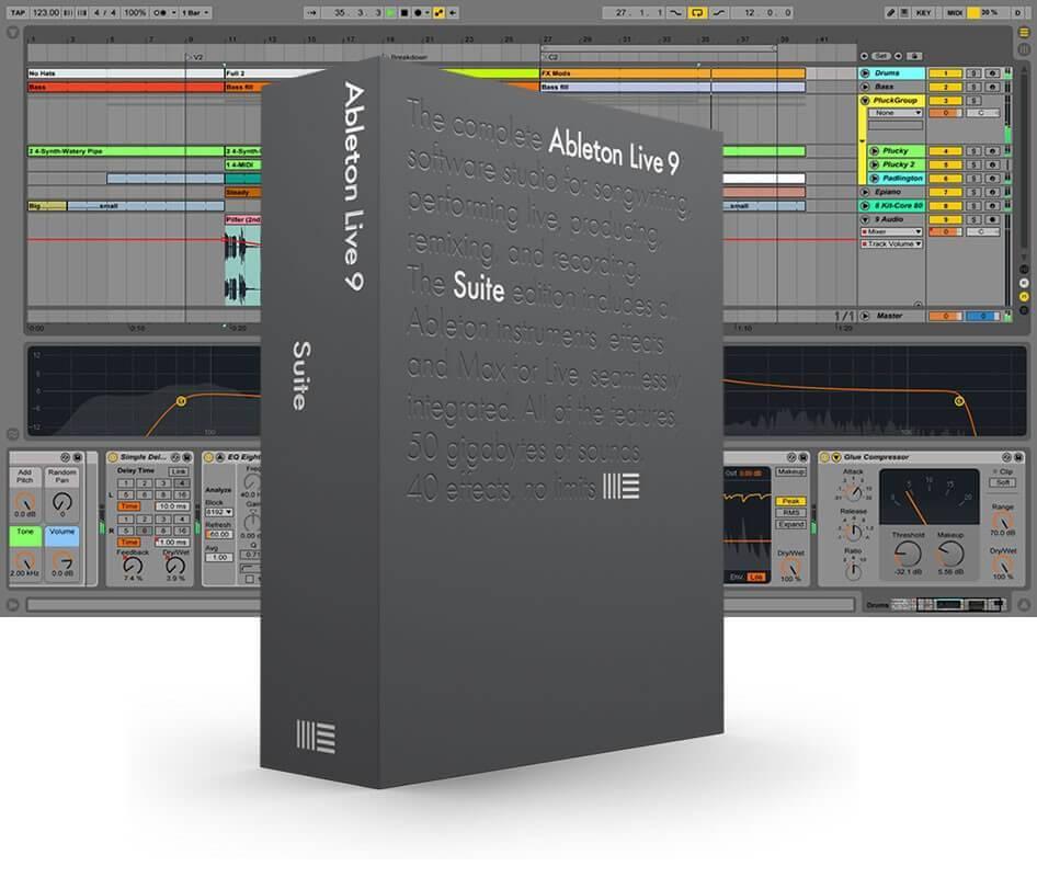 Ableton LIVE 9 SUITE 86972 - (Upgrade) from Live LITE download nu 20% lager met update naar versie