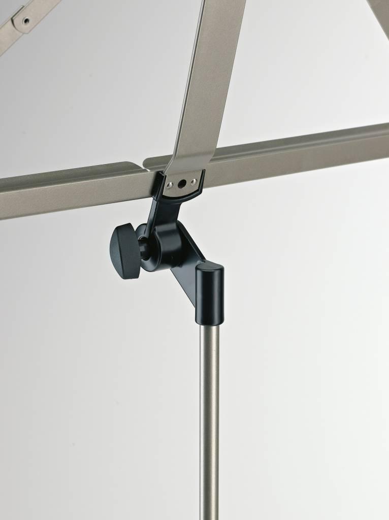 K&M K & M 107 nikkel lessenaar opvouwbaar inklapbaar 10700-000-11 nickel
