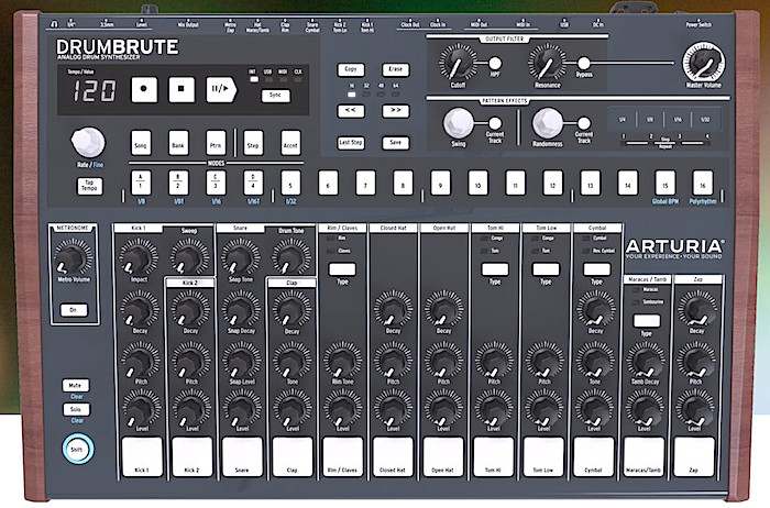 Arturia DrumBrute analoge drummachine