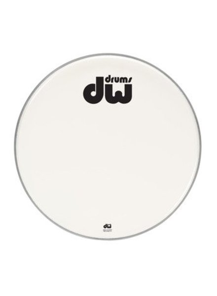 "DW drumworkshop DW bassdrum fronthead smooth white double ply 23"" DRDHAW23K"