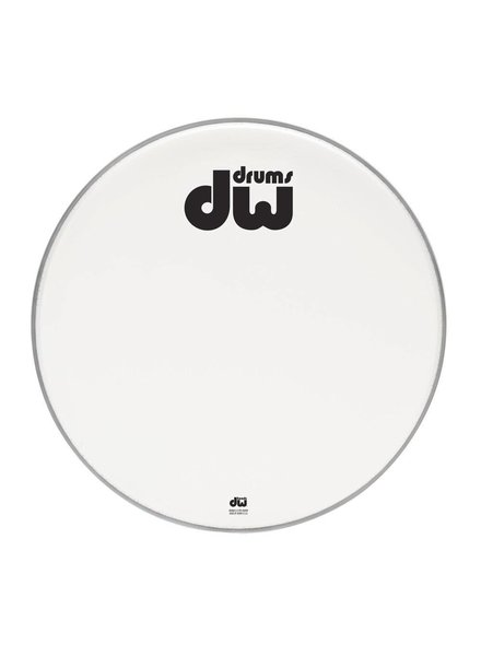 "DW drumworkshop DW bass drum front head bilayer coated white 23 ""DRDHACW23K"