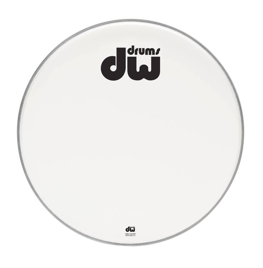 """DW drumworkshop DW Bass Drum vorderen Kopf Bilayer weiß beschichtet 23 """"DRDHACW23K"""