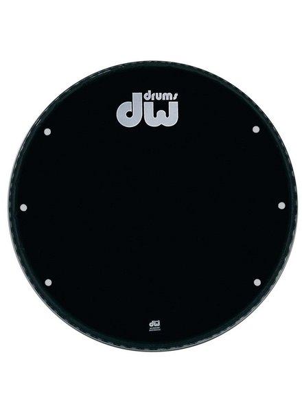 "DW drumworkshop DW bass drum front head Ebony Black 23 ""GB 23K with holes"