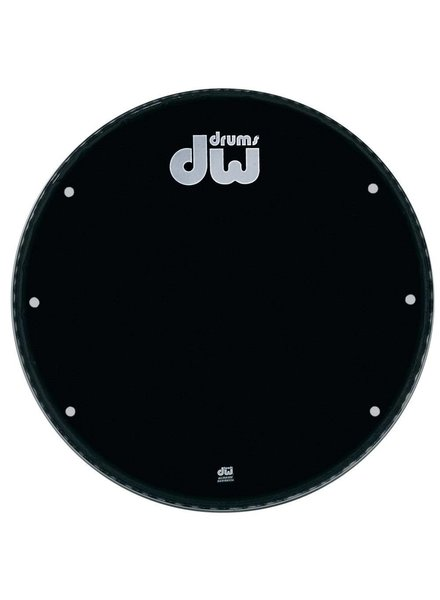 "DW drumworkshop DW bassdrum fronthead Ebony black 23"" GB-23K with holes"