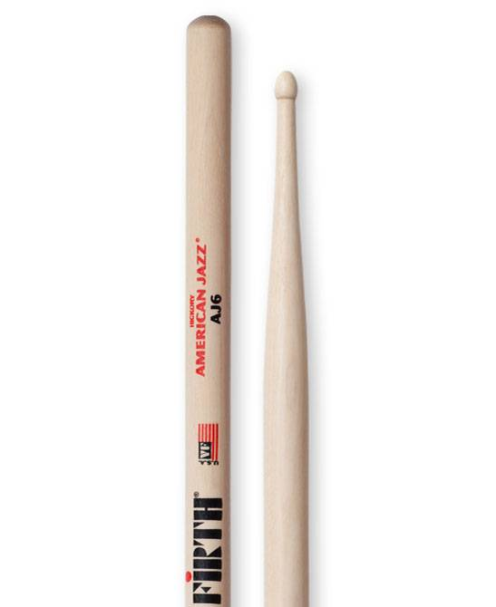 Vic Firth  AJ6 American jazz hickory drumstokken