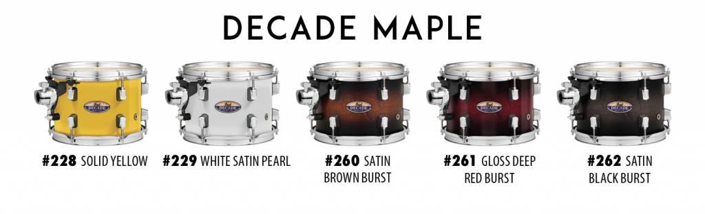 Pearl DMP925S / C262 DECADE Satin Black Burst drum incl. HWP830 hardware pack