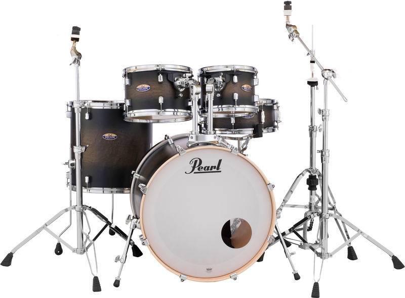 Pearl DMP925S / C262 JAHRZEHNT Satin Black Burst Trommel inkl. HWP830 Hardware Pack