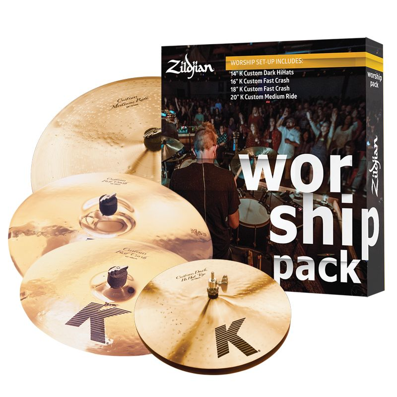 Zildjian  Cymbal set, K Custom, Worship Pack, 14H/16+18Cr/20R