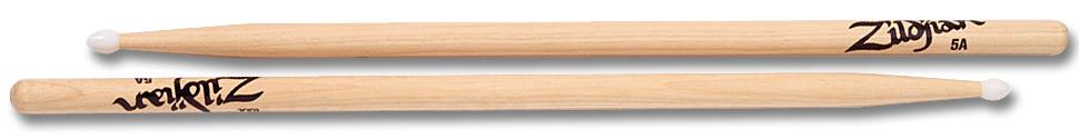 Zildjian  drumstokken 5A Hickory Nylon Tip-serie