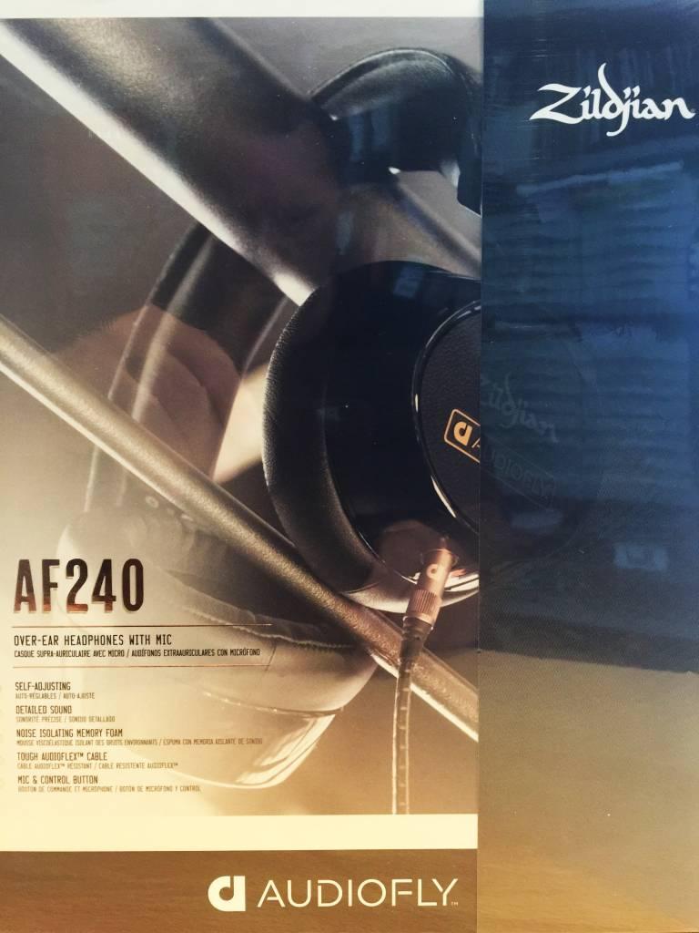 Zildjian Audiofly AF240 Schwarz Limited Edition über Ohr-Kopfhörer w / FernMic