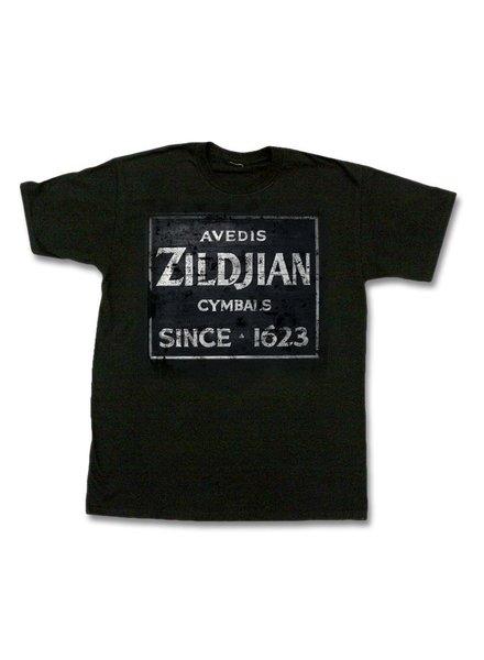 Zildjian ZIT4673 T-Shirt Quincy Weinlese-Zeichen, L, schwarz KTZIT4673