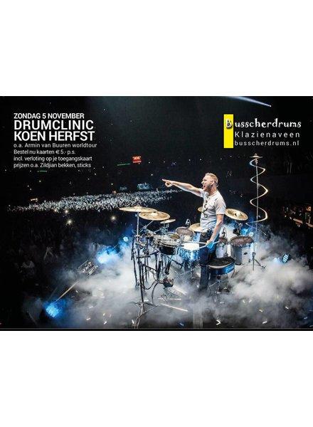 BUSSCHERDRUMS ZILDJIAN Drum Clinic Koen Herbst Sonntag, 5. November 2017 AUSVERKAUFT