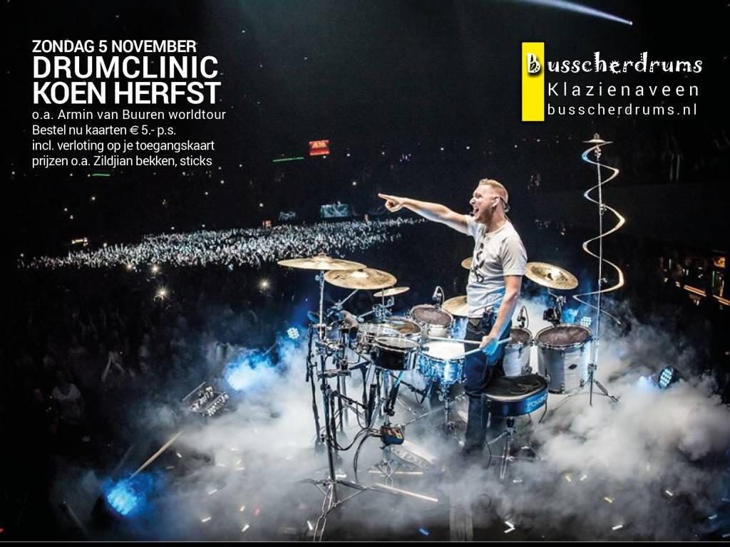 BUSSCHERDRUMS ZILDJIAN Drum Clinic Koen Herbst Sonntag, 5. November 2017
