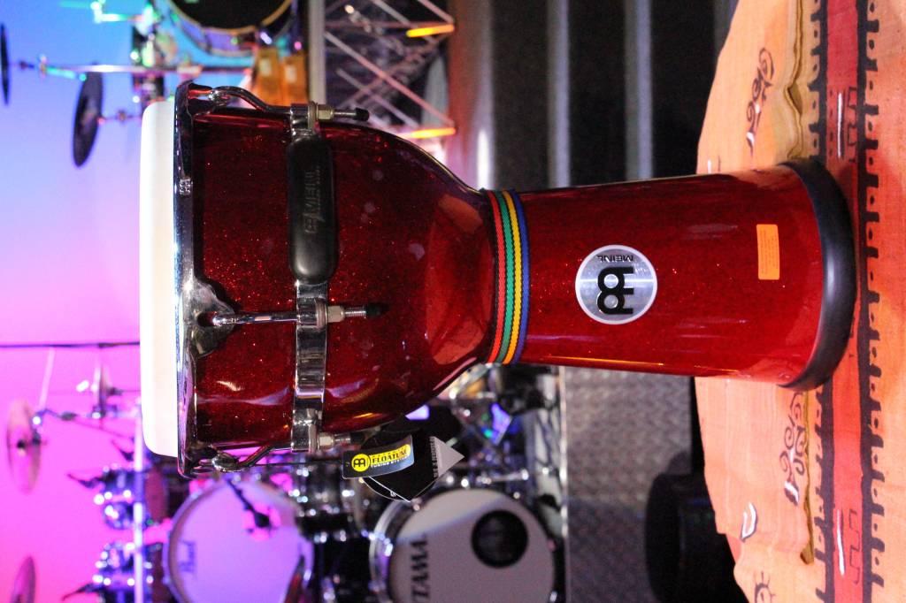 Meinl DJF3RSP glasvezel djembe, 12 inch red sparkle gebruikt model opruiming