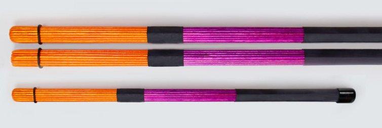 QPercussion QSticks Stangen Conversation orange purpurrot