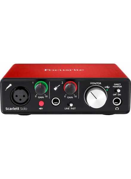 Focusrite RFO Focusrite Scarlett Solo (2nd Gen) USB Audio Interface