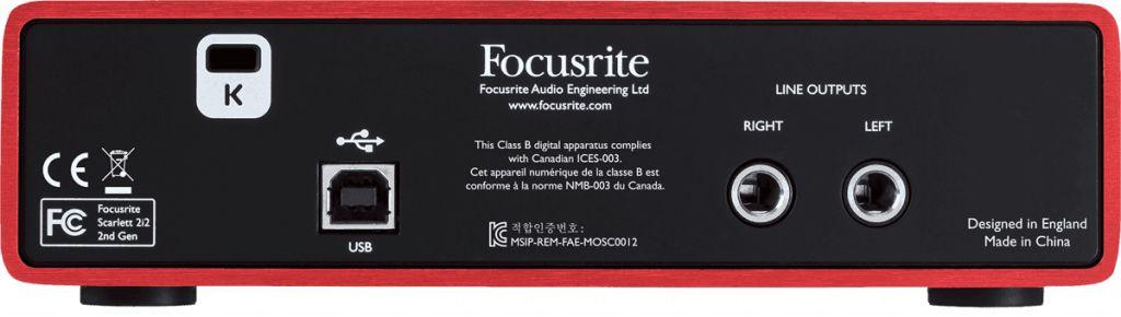 Focusrite RFO SCARLETT2-2I2 audio interface