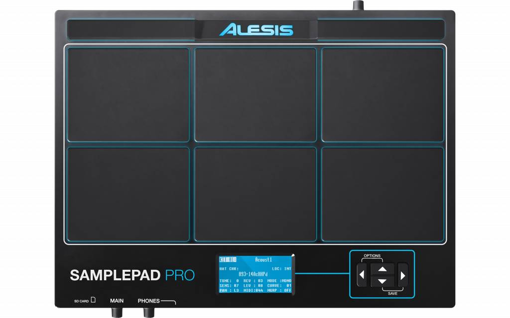 Alesis SAMPLEPAD PRO 8-Pad Percussion und Sample-Triggering Instrument