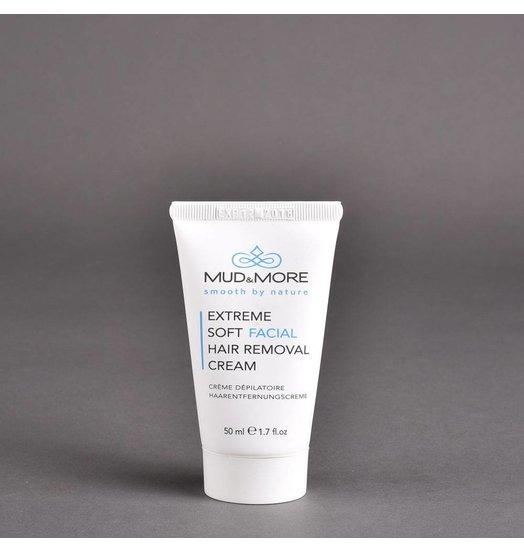 Extreem zachte ontharingscrème voor het gezicht