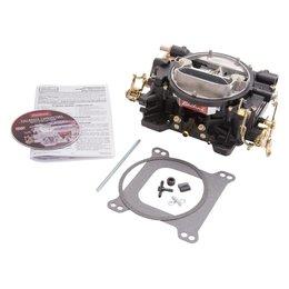 Edelbrock Carburetor, Enforcer, 4-Barrel, 600 CFM, Manual Choke, Rear, Black Finish
