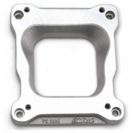 Edelbrock Adapter voor Spread-bore Carburateurs op Victor inlaatspruitstukken, 22mm