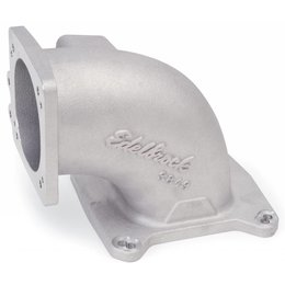 Edelbrock High Flow Intake Elbow, 95mm Throttle Body to Square-Bore Flange; as-cast finish