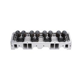 Edelbrock Cylinder Head, SBC, RPM, Angled Spark Plugs, 70cc, for Hydraulic Roller Cam. Complete (Ea)