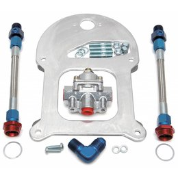 Edelbrock Fuel Pressure Regulator Kit, Dual outlet, Standard-Flange