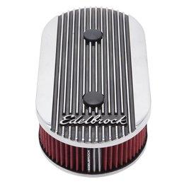 Edelbrock Oval Air Cleaner, Elite 2, Dual-Quad