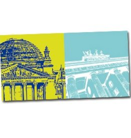 ART-DOMINO® by SABINE WELZ POSTKARTE BERLIN - 08